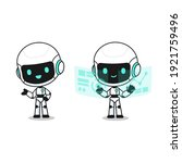 collection of cute robot in... | Shutterstock .eps vector #1921759496