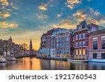 Amsterdam Netherlands  Sunset...