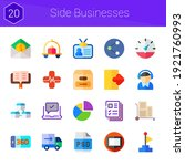 side businesses icon set. 20...