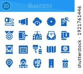 business icon set. 20 filled...
