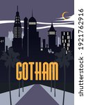 Gotham T Shirt Design Vector