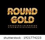 vector round gold alphabet set. ... | Shutterstock .eps vector #1921774223