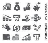 money icons set on white... | Shutterstock .eps vector #1921785056
