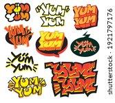 Yum Yum Typography Vector...