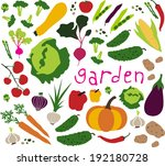 vegetable pattern. vector... | Shutterstock .eps vector #192180728