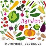 vegetable pattern. vector... | Shutterstock .eps vector #192180728