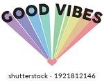 vintage good vibes slogan... | Shutterstock .eps vector #1921812146