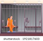Prisoner Sitting In Cell In...