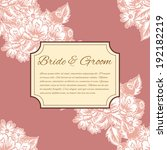 wedding invitation cards with... | Shutterstock .eps vector #192182219