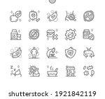 gut flora. beneficial bacteria. ... | Shutterstock .eps vector #1921842119