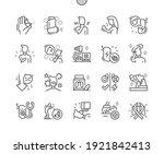 asthma. inhaler. treatment of... | Shutterstock .eps vector #1921842413