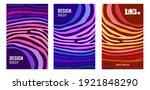 set bright vertical abstract... | Shutterstock . vector #1921848290
