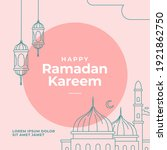 ramadan kareem poster design... | Shutterstock .eps vector #1921862750