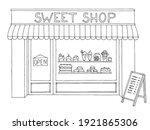 sweet shop exterior... | Shutterstock .eps vector #1921865306