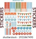 sticker planner organizer daily ... | Shutterstock .eps vector #1921867490