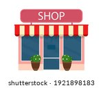 shop building or town retail... | Shutterstock .eps vector #1921898183