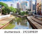klang kelang  river and mosque... | Shutterstock . vector #192189839