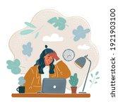 cartoon vector illustration of... | Shutterstock .eps vector #1921903100