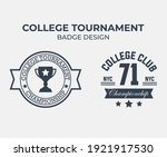 college tournament champion... | Shutterstock .eps vector #1921917530