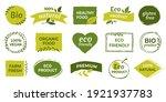 eco logo. organic healthy food... | Shutterstock . vector #1921937783