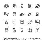 drugs line icon. medicine... | Shutterstock . vector #1921940996