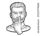 man picking his nose sketch... | Shutterstock .eps vector #1921979060