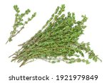 Fresh Thyme Isolated On A White ...