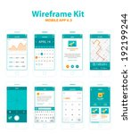 wireframe kit mobile app v.3