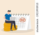 tax day reminder concept.... | Shutterstock .eps vector #1921993913