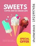 realistic 3d ice cream flyers... | Shutterstock .eps vector #1921997456