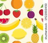 cute fruit mix seamless pattern....   Shutterstock .eps vector #1922003450