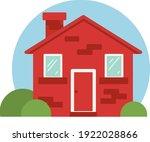 vector red house illustration.... | Shutterstock .eps vector #1922028866