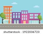 urban skyscraper buildings view ... | Shutterstock .eps vector #1922036723
