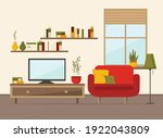 living room interior with... | Shutterstock .eps vector #1922043809