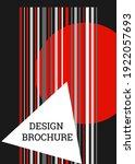 geometric cover design.... | Shutterstock .eps vector #1922057693