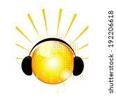 sun in headphones. vector | Shutterstock .eps vector #192206618