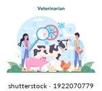 pet veterinarian concept.... | Shutterstock .eps vector #1922070779