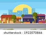 roadside fruit vegetable store... | Shutterstock .eps vector #1922070866
