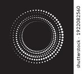 halftone dots in circle form....   Shutterstock .eps vector #1922082560
