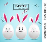 easter card with eggs and bunny ... | Shutterstock .eps vector #1922101040