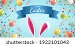 easter card with eggs  candies... | Shutterstock .eps vector #1922101043