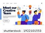 presentation slide template or... | Shutterstock .eps vector #1922101553