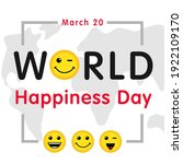 world happiness day greeting... | Shutterstock .eps vector #1922109170