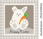 easter bunny and carrot... | Shutterstock .eps vector #1922140016