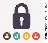 lock icon on dot pattern... | Shutterstock .eps vector #1922150150