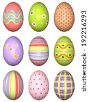 3d easter eggs mapped with... | Shutterstock . vector #192216293