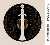 meditating woman on a night... | Shutterstock .eps vector #1922166449