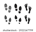 collection of footprints shoes...   Shutterstock .eps vector #1922167799