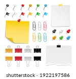 note paper  pins and paper... | Shutterstock .eps vector #1922197586
