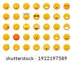 set of emoticons. emoji icons.... | Shutterstock .eps vector #1922197589